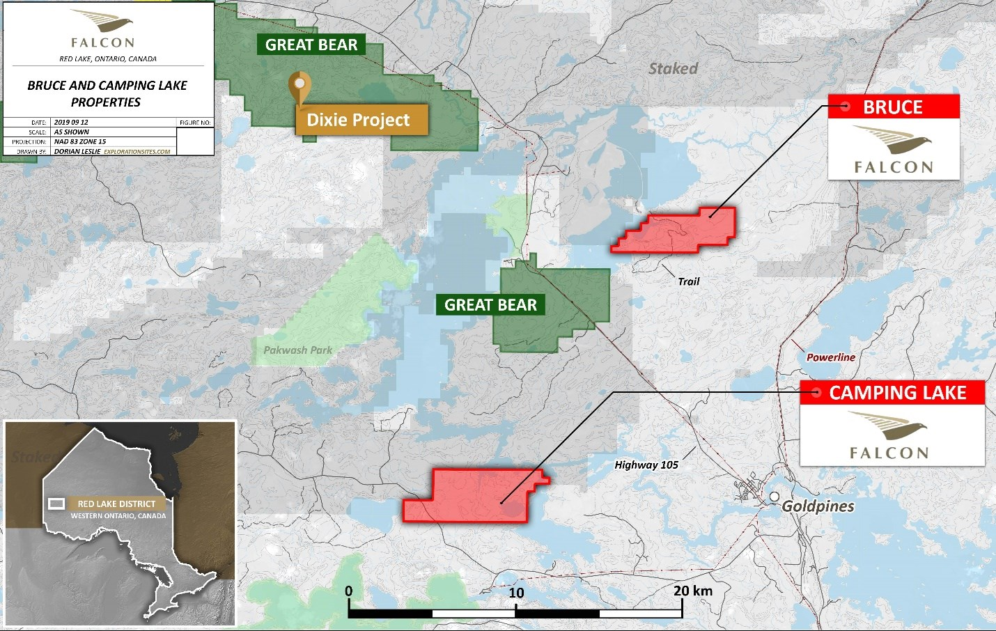 red lake ontario map Falcon Gold Executes 2 Agreements On Red Lake Properties In red lake ontario map
