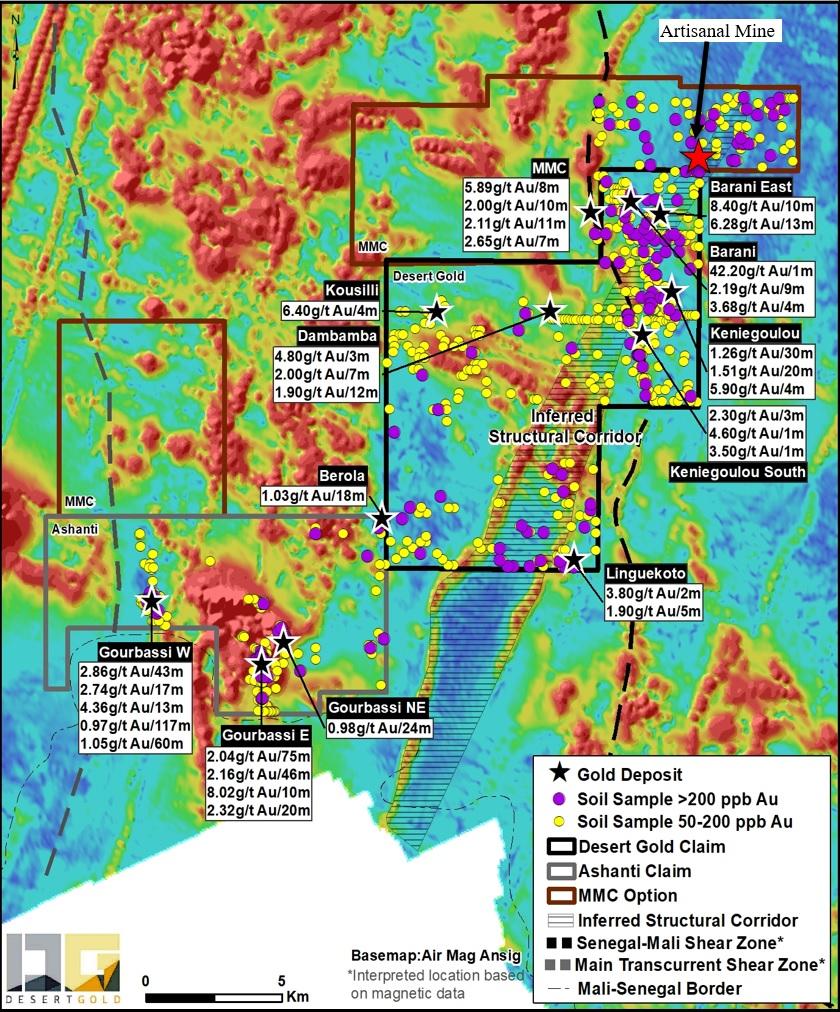 Desert Gold Earns An Initial 55% Interest In 104km2