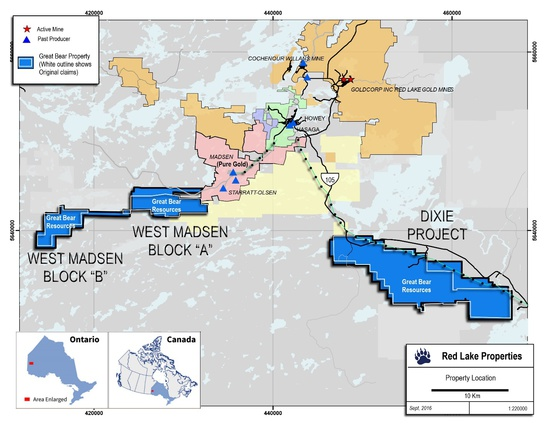 red lake ontario map Great Bear Expands Gold Properties In Red Lake Ontario Canadian red lake ontario map